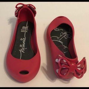 Mini Melissa 'minnie' Slip Ballet Slippers Pink 13